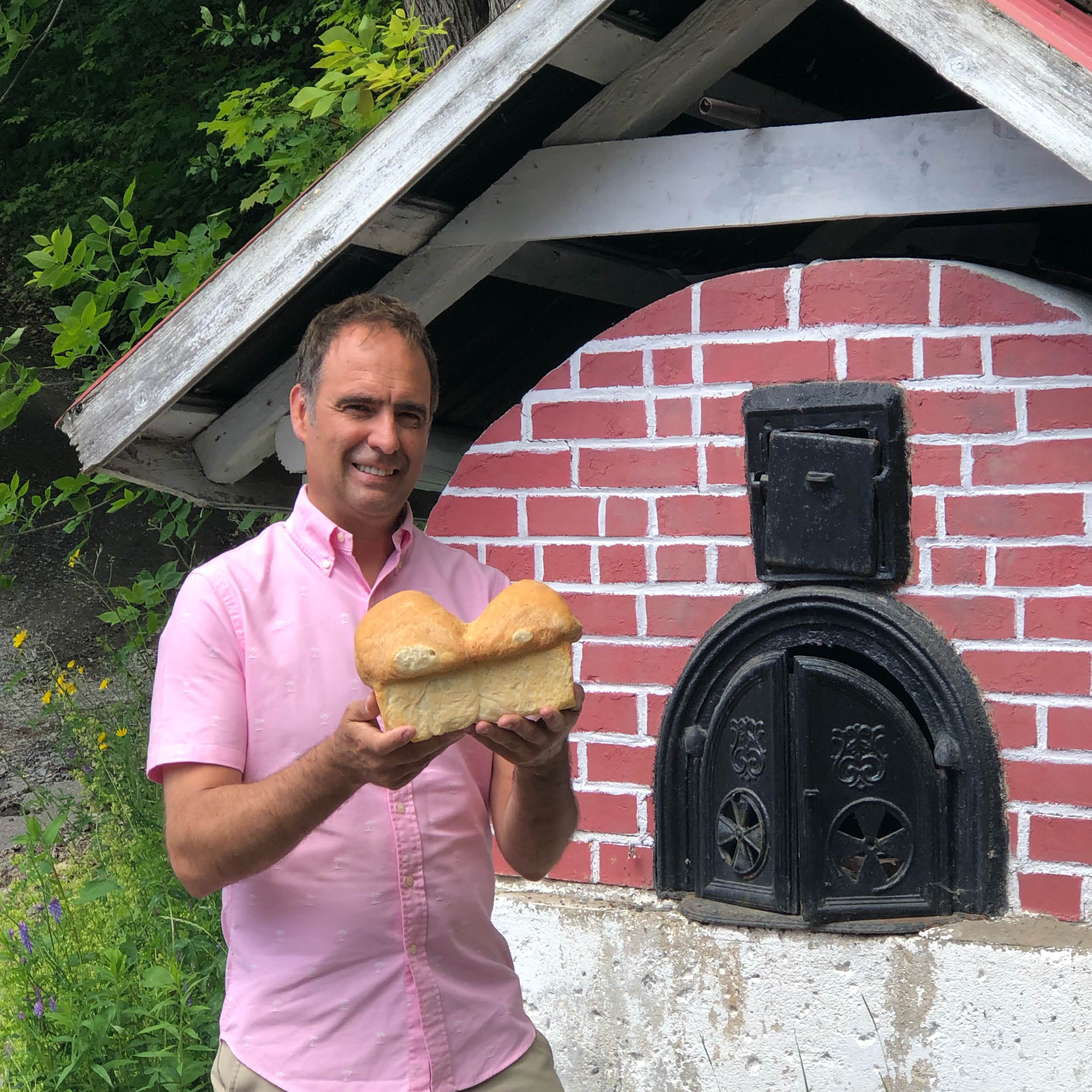 Homemade bread from an outdoor bread oven in the Beaupre Coast