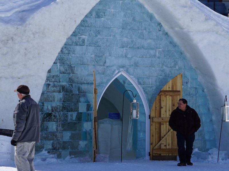 Hotel de Glace is a stunning winter attraction in Quebec