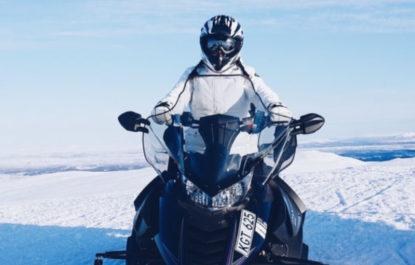 Take a snowmobile tour in rural Quebec