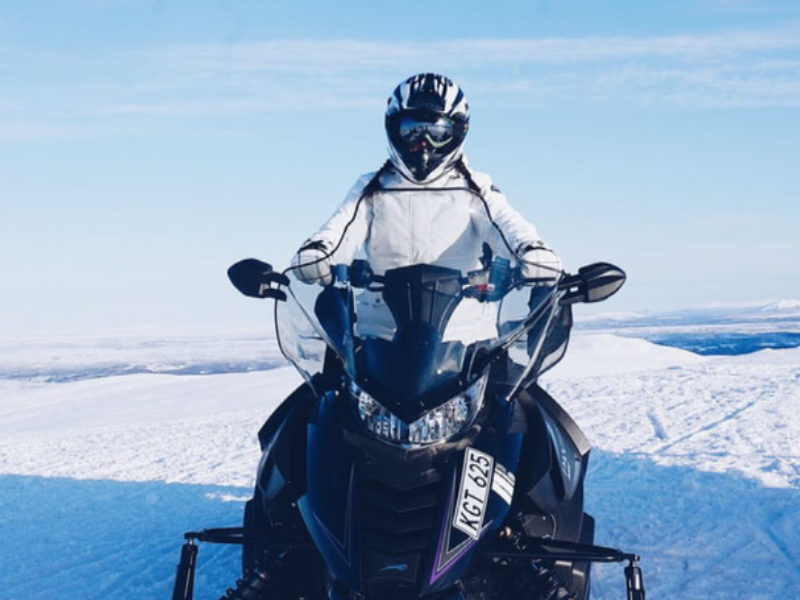 Take a snowmobile tour in rural Quebec
